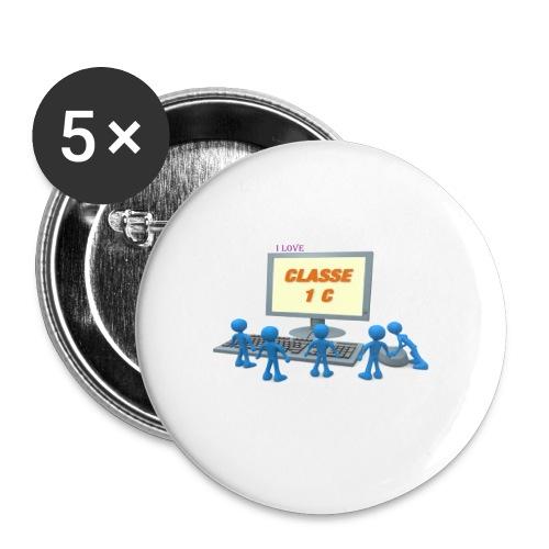 i love - Confezione da 5 spille piccole (25 mm)