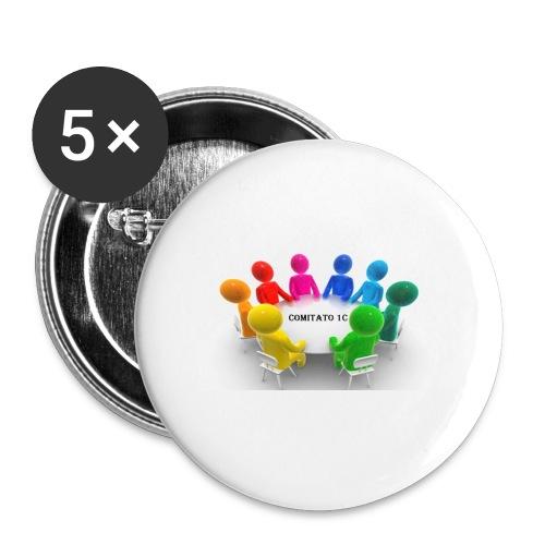 comitato 1c - Confezione da 5 spille piccole (25 mm)