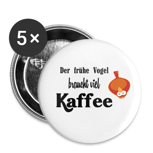 kaffeeVogel.png - Buttons klein 25 mm (5er Pack)