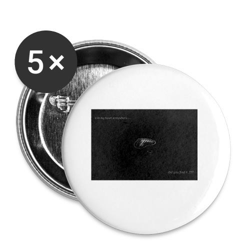 Lost Ma Heart - Buttons small 1''/25 mm (5-pack)