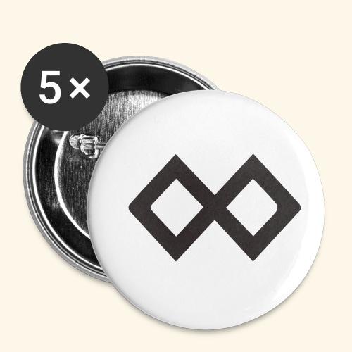 TenX Logo - Buttons klein 25 mm (5er Pack)