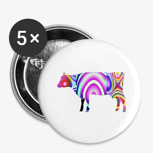 La vache - Lot de 5 petits badges (25 mm)