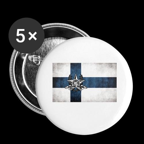 Suomen lippu - Rintamerkit pienet 25 mm (5kpl pakkauksessa)