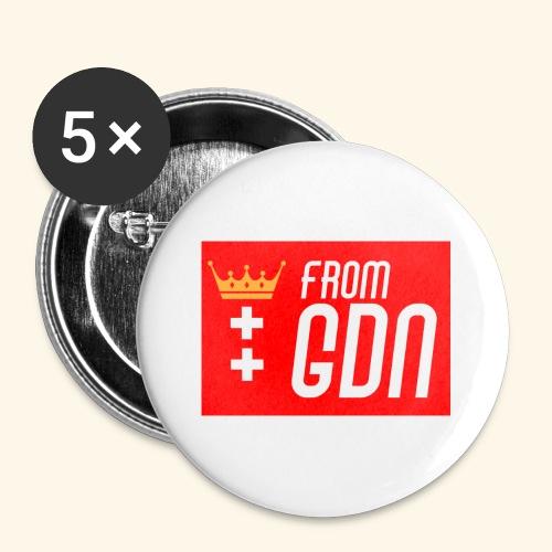 #fromGDN - Przypinka mała 25 mm (pakiet 5 szt.)