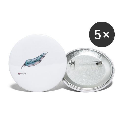 HerzBauchWerk Feder schlicht - Buttons klein 25 mm (5er Pack)
