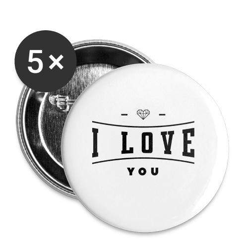 i love you2 - Przypinka mała 25 mm (pakiet 5 szt.)