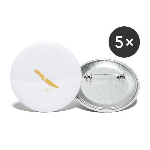 La pin-up à son barbu - Lot de 5 petits badges (25 mm)