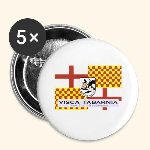 tabarnia01 - Paquete de 5 chapas pequeñas (25 mm)
