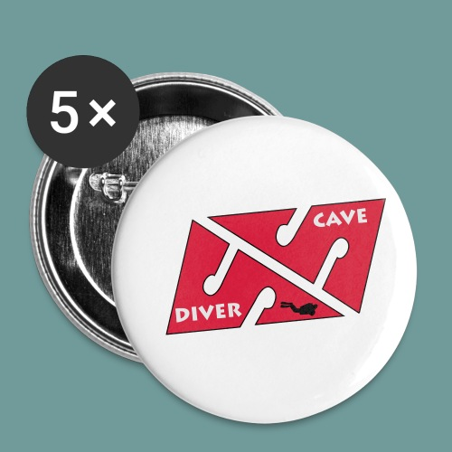cave_diver_01 - Lot de 5 petits badges (25 mm)