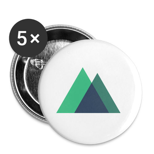 Mountain Logo - Buttons small 1''/25 mm (5-pack)