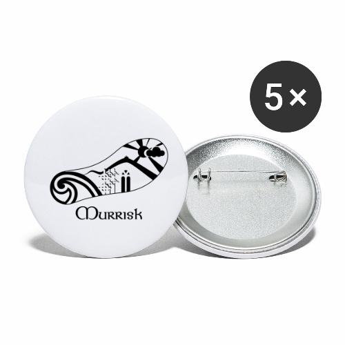 Murrisk Foot Print - Buttons small 1''/25 mm (5-pack)