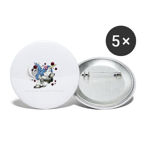 Don't mess with the unicorn - Buttons klein 25 mm (5er Pack)