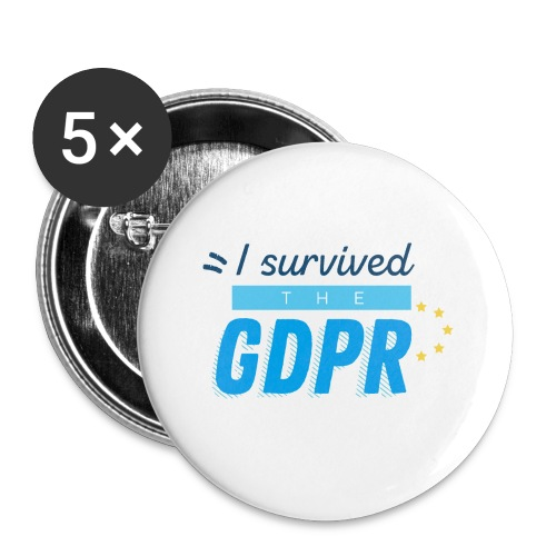I survived the GDPR - Buttons small 1''/25 mm (5-pack)