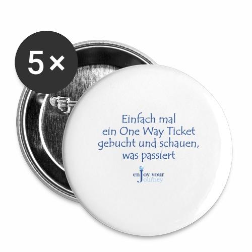 One Way Ticket - Buttons klein 25 mm