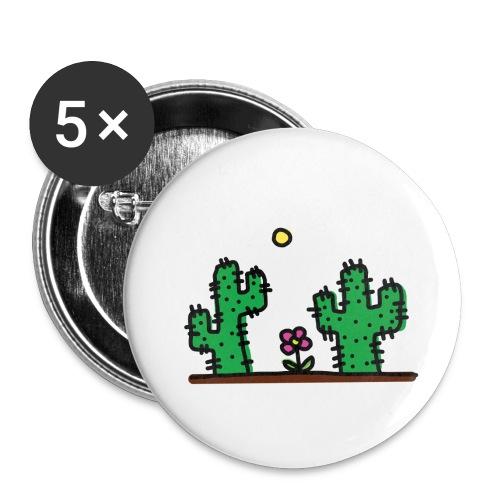 Cactus - Confezione da 5 spille piccole (25 mm)