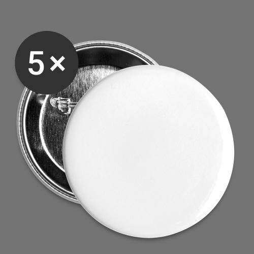 carpe diem (hvid) - Buttons/Badges lille, 25 mm (5-pack)