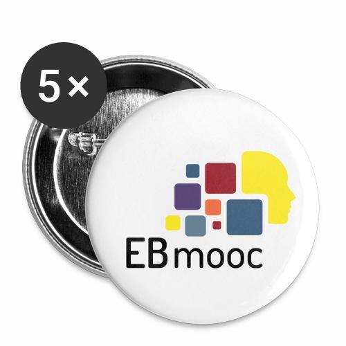 EBmooc Logo - Buttons klein 25 mm (5er Pack)