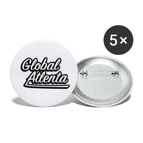 DJ Global Atlenta - Lot de 5 petits badges (25 mm)