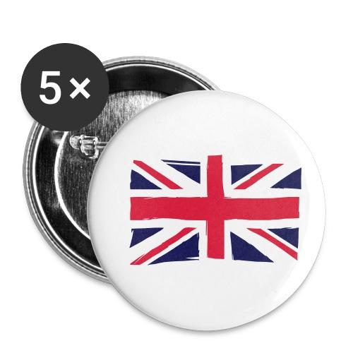 vlag engeland - Buttons klein 25 mm (5-pack)