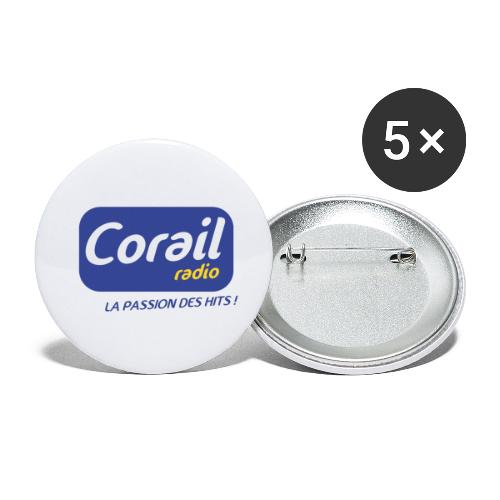 Logo bleu - Lot de 5 petits badges (25 mm)