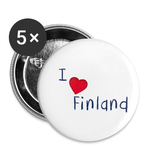 I Love Finland - Rintamerkit pienet 25 mm (5kpl pakkauksessa)
