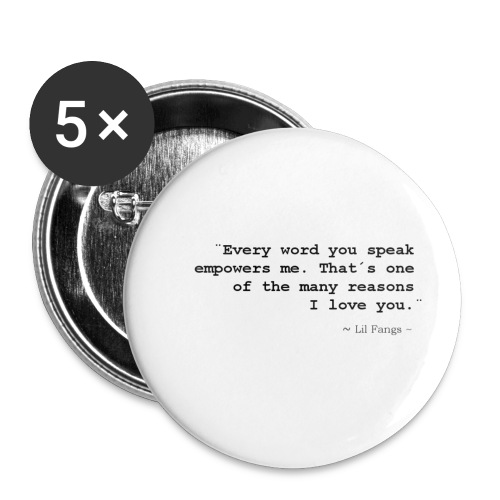 Empowerment - Black Text - Buttons small 1''/25 mm (5-pack)