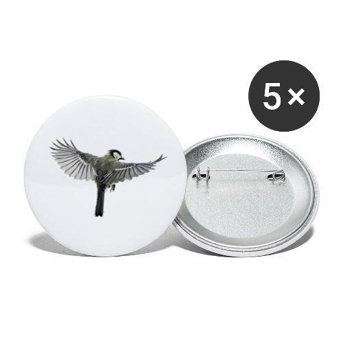 Vogel - Buttons klein 25 mm (5er Pack)