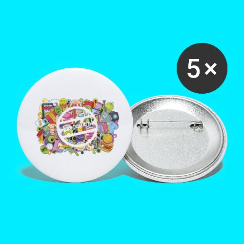 maglia logo doodle - Confezione da 5 spille piccole (25 mm)
