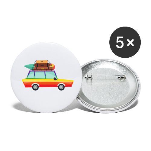 Gay Van | LGBT | Pride - Buttons klein 25 mm (5er Pack)