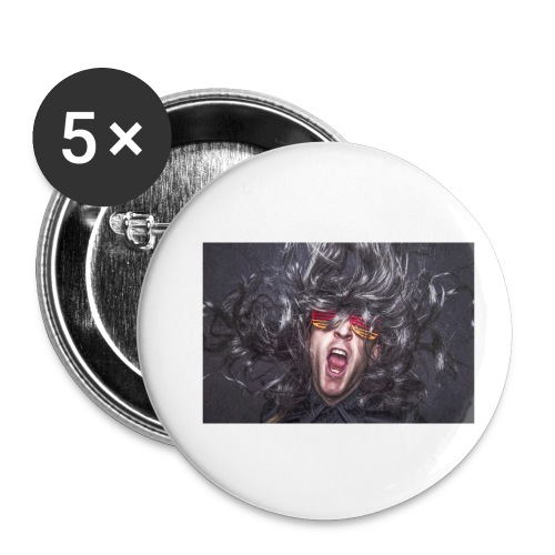 Party - Buttons klein 25 mm (5er Pack)