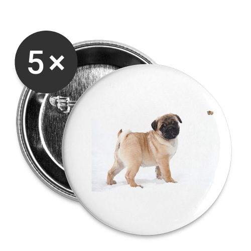 walker family pug merch - Buttons small 1''/25 mm (5-pack)