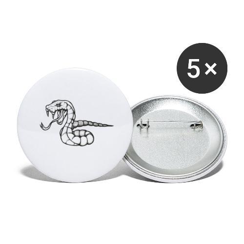 Design Serpent Comics - Lot de 5 petits badges (25 mm)