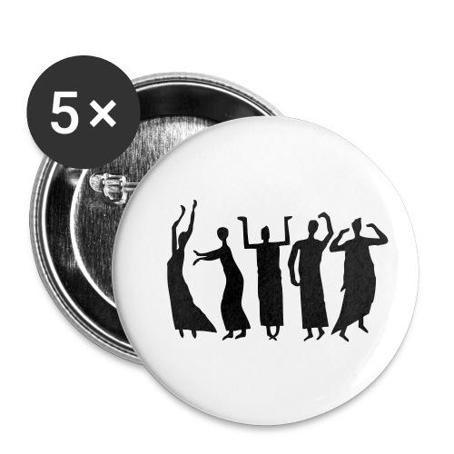 Eurythmie Figuren - Buttons klein 25 mm (5er Pack)