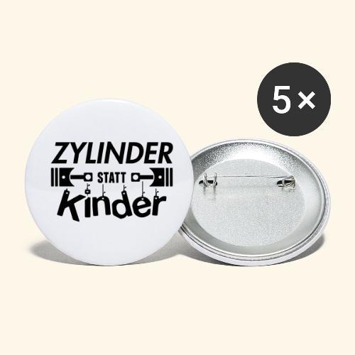 Zylinder Statt Kinder - Buttons klein 25 mm (5er Pack)