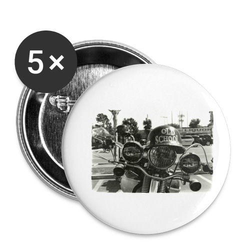 Old School Motorcycle - Buttons klein 25 mm (5er Pack)