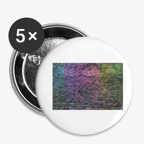 Regenbogenwand - Buttons klein 25 mm (5er Pack)