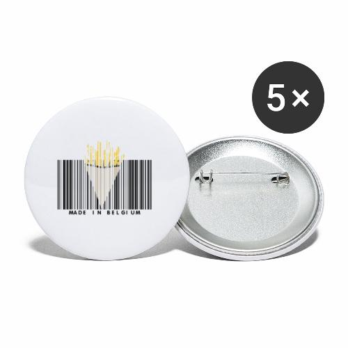Made In Belgium - Lot de 5 petits badges (25 mm)