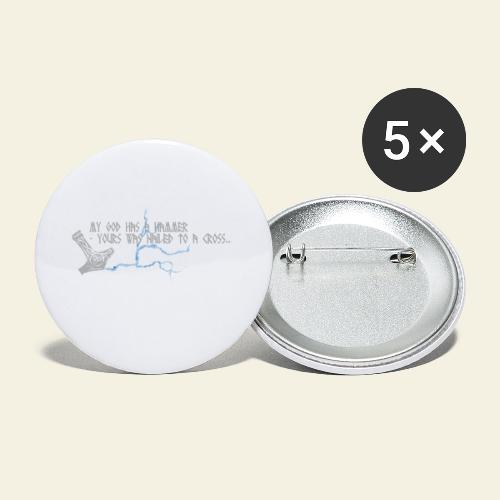 mjlner - Buttons/Badges lille, 25 mm (5-pack)