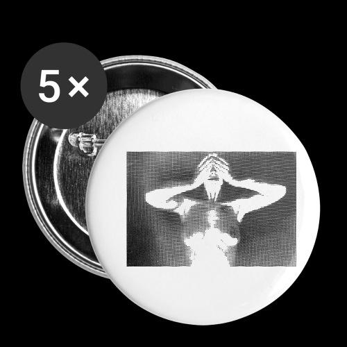 Rastergirl - Buttons klein 25 mm (5er Pack)