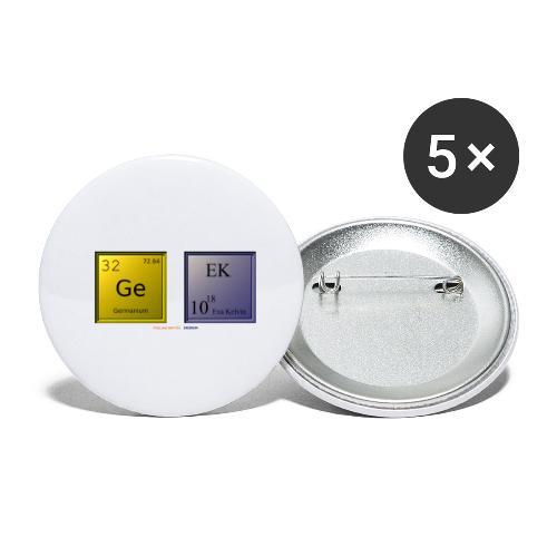 GEEK IV - Lot de 5 petits badges (25 mm)