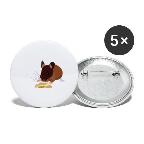 Maus - Buttons klein 25 mm (5er Pack)