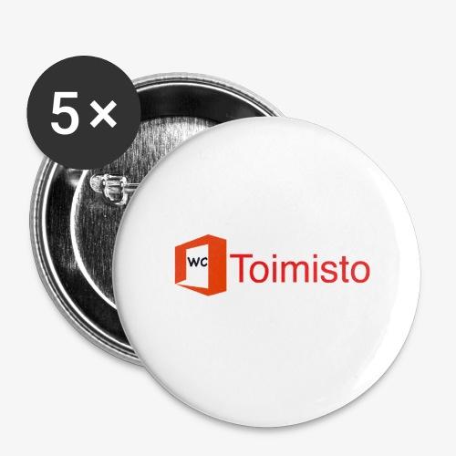 toimisto - Rintamerkit pienet 25 mm (5kpl pakkauksessa)
