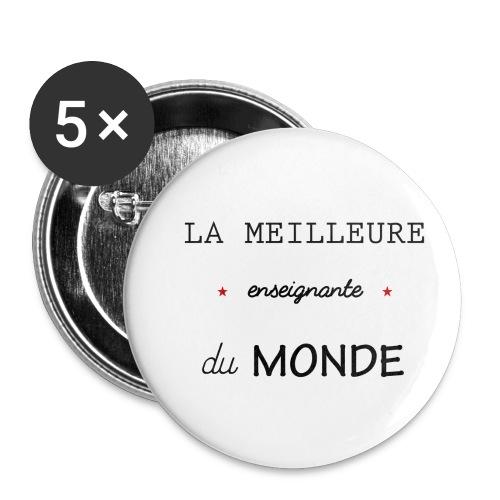 la meilleure enseignante du monde XXL - Lot de 5 petits badges (25 mm)