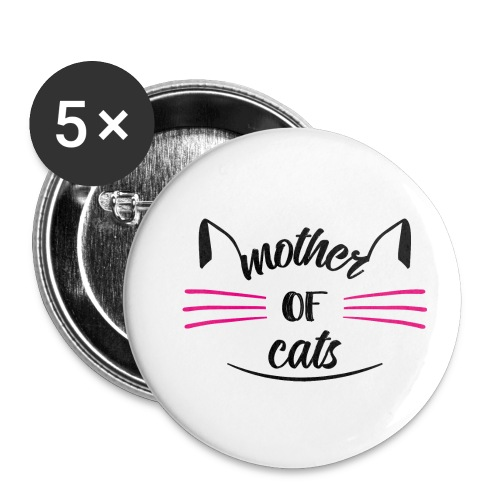 Mother of Cats - Buttons klein 25 mm