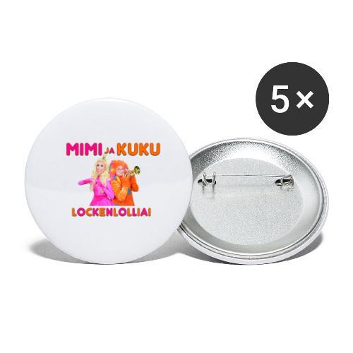 Mimi ja Kuku Lockenlollia - Rintamerkit pienet 25 mm (5kpl pakkauksessa)