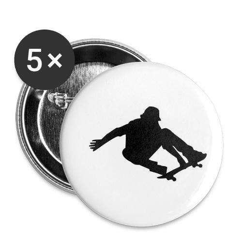 Skater in Action - Buttons klein 25 mm (5er Pack)