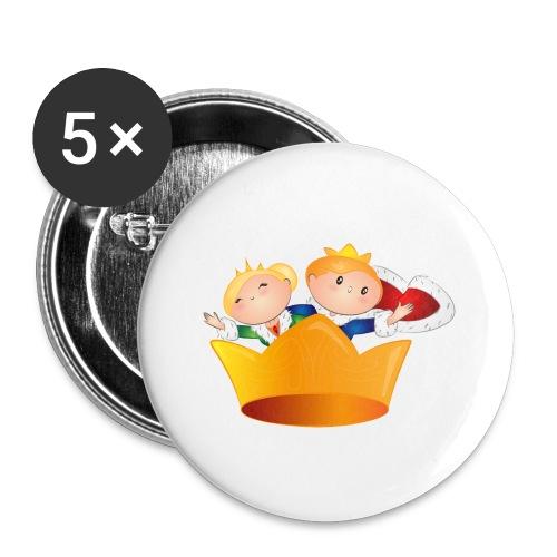 Koning Willem Alexander & Maxima - Buttons klein 25 mm (5-pack)