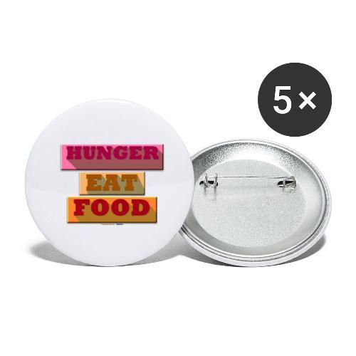 Hunger TShirt - Lot de 5 petits badges (25 mm)
