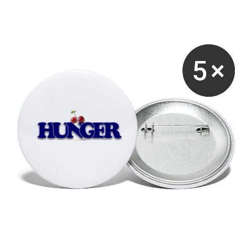 TShirt Hunger cerise - Lot de 5 petits badges (25 mm)