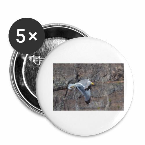 Möwe - Buttons klein 25 mm (5er Pack)